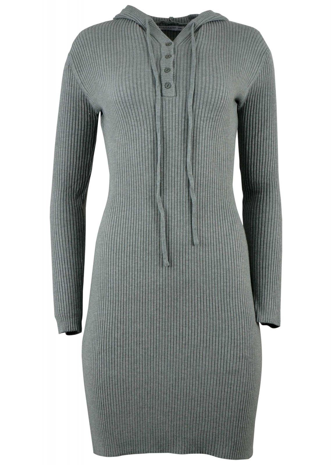 Γυναικείο φόρεμα ρίπ ελαστικό με κουκούλα. Casual Style. ΜΕΝΤΑ - gsecret -