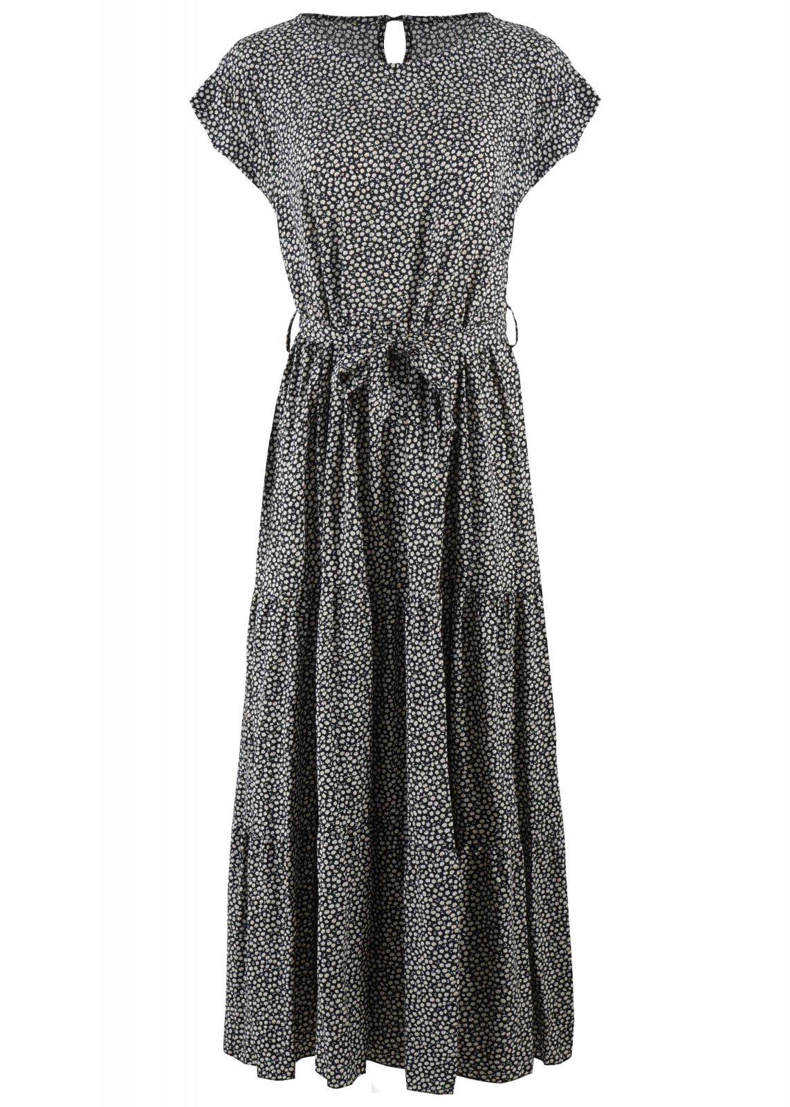 Γυναικείο maxi φόρεμα λαιμόκοψη ΜΑΥΡΟ