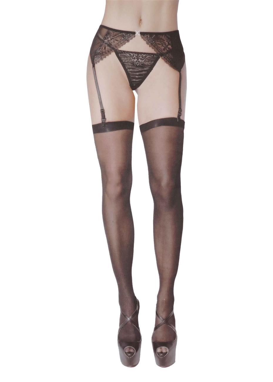 Γυναικειο σετ καλσον ζαρτιερα string. Sexy collection ΜΑΥΡΟ